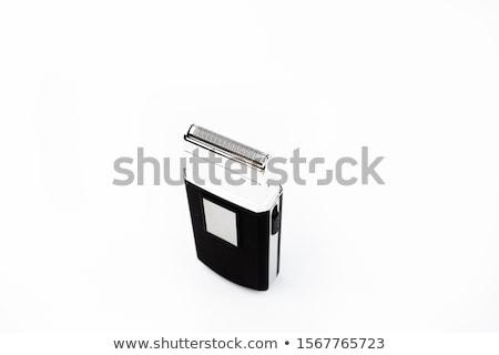 közelkép · elektromos · borotva · fekete · modern · fotózás - stock fotó © nemalo