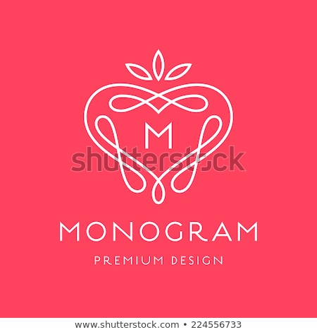 Eenvoudige bevallig monogram ontwerpsjabloon elegante logo-ontwerp Stockfoto © Fractal86