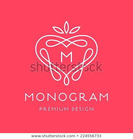 Simples gracioso monograma modelo de design elegante design de logotipo Foto stock © Fractal86