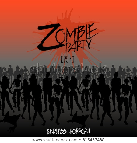 halloween zombie party poster eps 10 stock photo © beholdereye