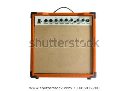 Guitar Amplifier Isolated on White Stock photo © Kayco