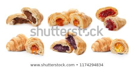 vla · gebak · shell · frambozen · hout · vruchten - stockfoto © digifoodstock
