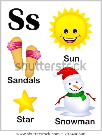 Lettre sandales illustration fond éducation écrit Photo stock © bluering