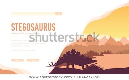 Dinosauro habitat illustrazione panorama arte tropicali Foto d'archivio © ConceptCafe