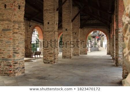 коридор · итальянский · здании · стиль · дома · город - Сток-фото © leungchopan