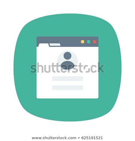 пользователь профиль икона навигация вектора искусства Сток-фото © vector1st