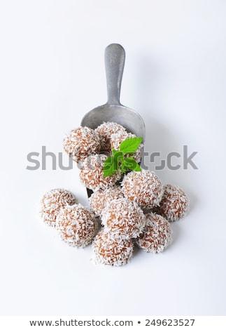 Chocolate coconut snowballs Stock photo © Digifoodstock