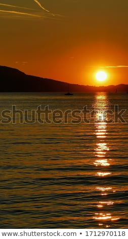 Balaton sunset Stock photo © LIstvan