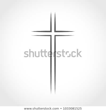 Dini çapraz ikon dizayn örnek gölge Stok fotoğraf © nickylarson974