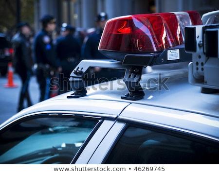 policji · samochodu · ulicy · niebezpieczeństwo · drogowego · niebieski - zdjęcia stock © zurijeta