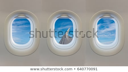 An open window with a view of the plane Stock photo © bluering