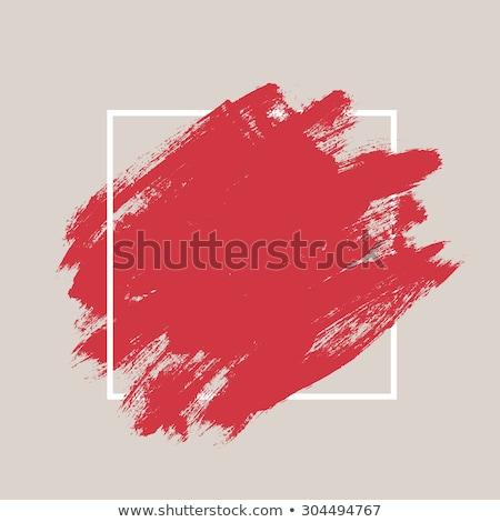 Vízfesték ecset piros vízfesték fehér hát Stock fotó © prill