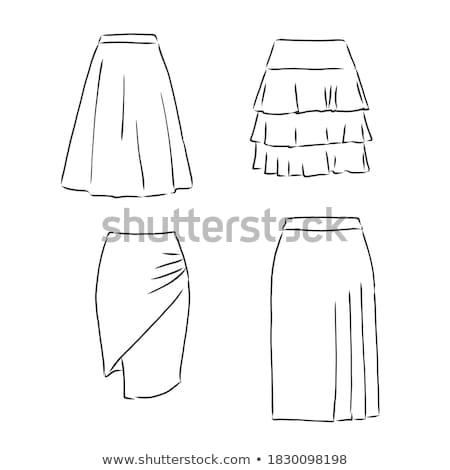 Szoknya rajz ikon vektor izolált kézzel rajzolt Stock fotó © RAStudio