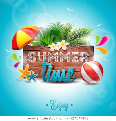Summer background with a sun. EPS 10 Stock photo © beholdereye