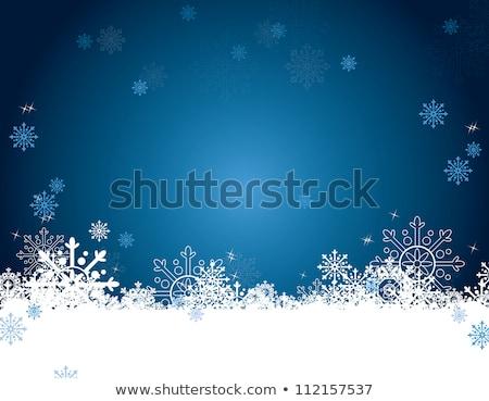 Noël accueil bleu décoration carte de vœux design Photo stock © vipervxw