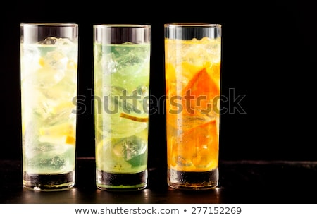 Glasses of fruit flavored drinks Stock photo © Digifoodstock