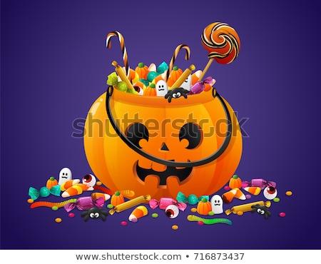 Trükk csemege halloween fesztivál textúra buli Stock fotó © SArts