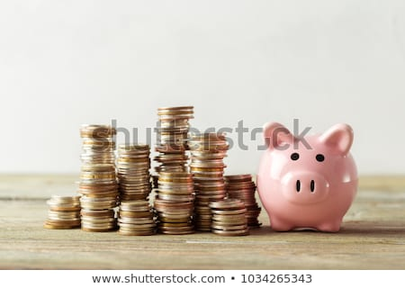 Happy Piggy bank or money box Stock photo © 5xinc
