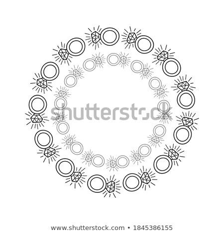 ékszerek · keret · vektor · terv · értékes · ajándék - stock fotó © robuart