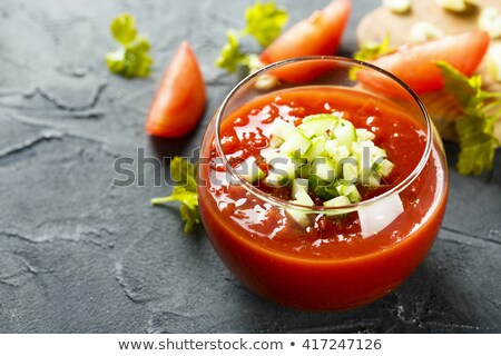 Bowl of Chilled Gazpacho Soup Stock photo © monkey_business