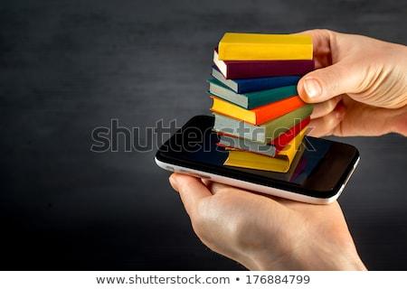 Ebook gadget mano isolato bianco libro Foto d'archivio © digitalr
