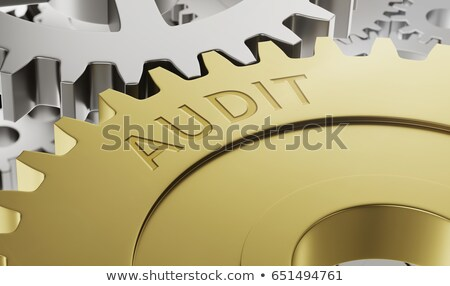 Metal gear wheels with the engraving Audit - 3d render Stock photo © Zerbor