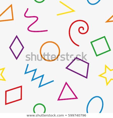 фундаментальный геометрический красочный вектора Сток-фото © almagami