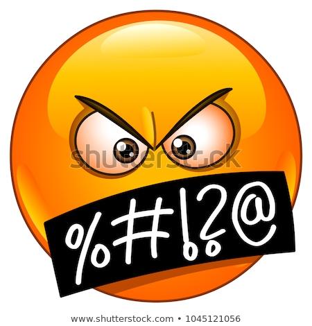 Emoji - furious orange. Isolated vector. Stock photo © RAStudio
