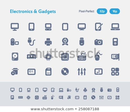 Electronics & Gadgets - Ants Icons stock photo © micromaniac