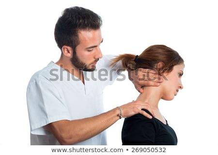 Cuello masaje nina paciente clínica mujer Foto stock © wavebreak_media