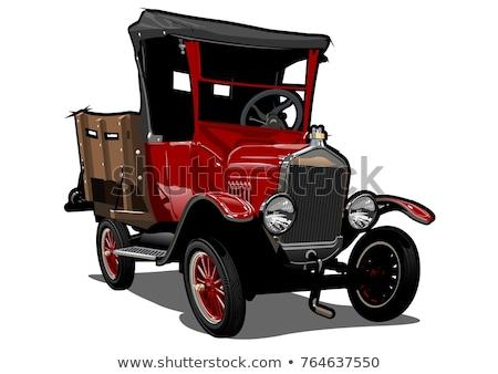 öreg teher teherautó izometrikus nehéz amerikai Stock fotó © Genestro