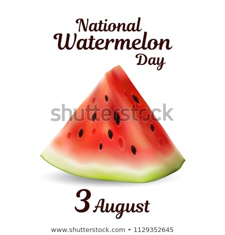 Agosto anguria giorno calendario biglietto d'auguri vacanze Foto d'archivio © Olena