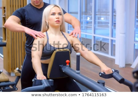 Hombre mujer entrenamiento remo Pareja Foto stock © vlad_star