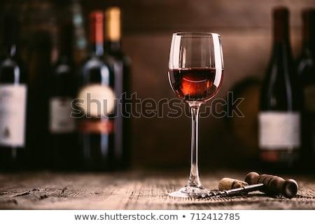 wine glass on wood Stock photo © mythja