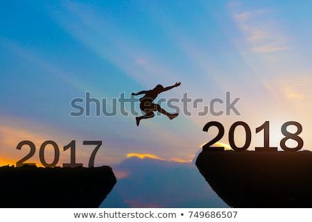 happy new year 2018 over sky background Stock photo © marinini
