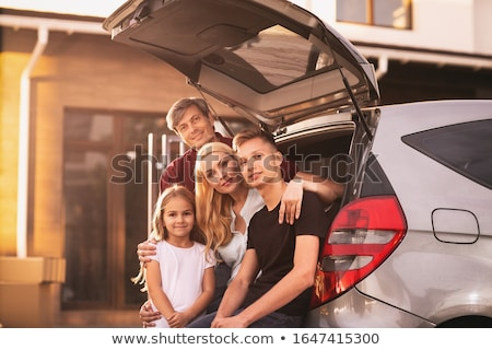 Couple in front of their house and car Stock photo © IS2