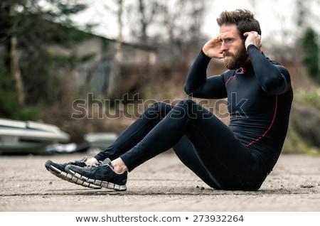 man doing sit ups Stock photo © IS2