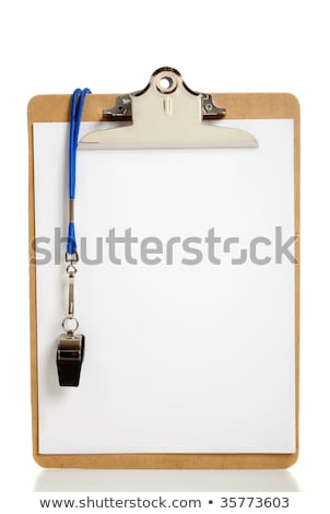 Clipboard and Whistle Stock photo © devon