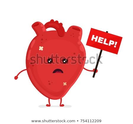 Mascot Heart Sad Stock photo © lenm