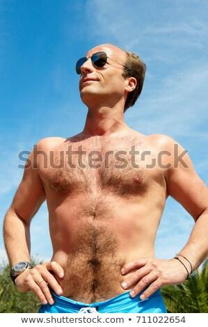 Homem camisas tiro abaixo verão diversão Foto stock © IS2