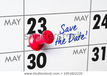 Wall calendar with a red pin - May 23 Stock photo © Zerbor