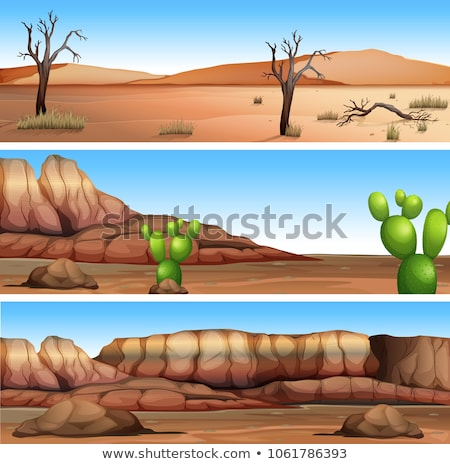 Three Different Dry Valley Scene Stock photo © bluering