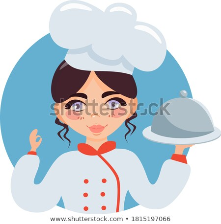 Boy holding baking tray of fairy cakes Stock photo © IS2