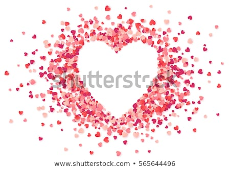 Shiny hearts confetti Stock photo © Zela