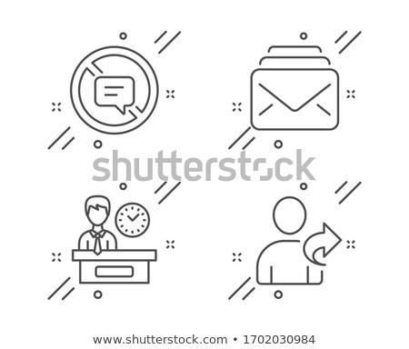 Não falar assinar símbolo ícone branco Foto stock © romvo