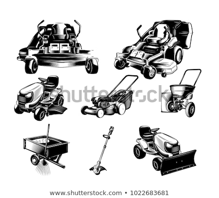 Lawn mower isolated on white background. Vector illustration Stock photo © popaukropa