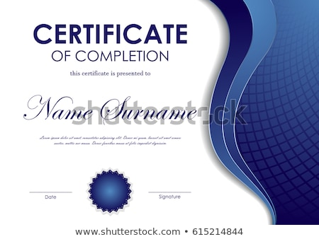 completion certificate Stock photo © get4net