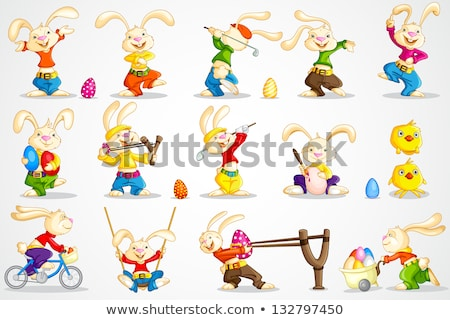 Cartoon Rabbit Golfing Stock photo © cthoman