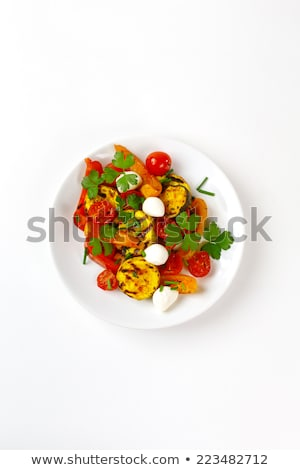 vegetarian restaurant fresh vegetables on the plate eggplant a stock photo © popaukropa