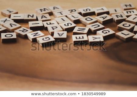 Spell English word dice Stock photo © bluering